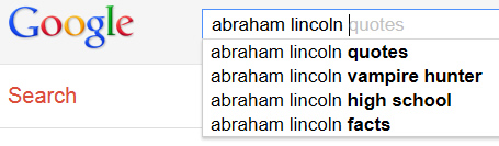 השלמה אוטומטית בתוצאות החיפוש של גוגל