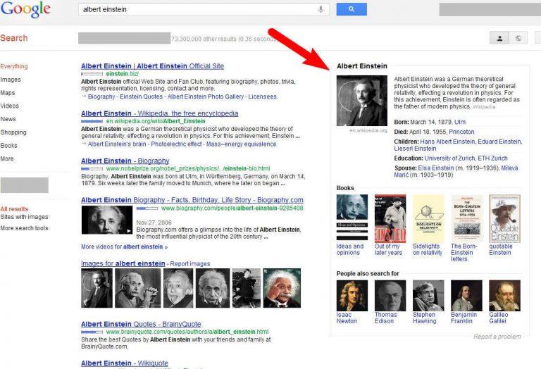 גוגל משדרגת את תוצאות החיפוש שלה – גרף הידע